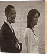 President Obama And First Lady S Wood Print by David Dehner