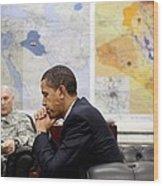President Obama Meets With Gen. Raymond Wood Print