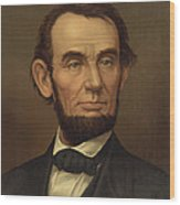 President Of The United States Of America - Abraham Lincoln  Wood Print