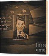 President Reagan Wood Print