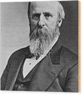 President Rutherford B. Hayes Wood Print