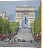 President Sarkozy Wood Print