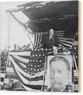 President Taft Giving A Speech In Augusta - Georgia C 1910 Wood Print