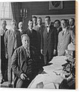 President William H. Taft At His Desk Wood Print