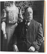 President William Howard Taft With Daughter Wood Print by International  Images