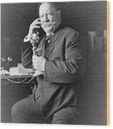 President William Taft 1857-1930 Using Wood Print by Everett