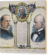 Presidential Campaign, 1892 Wood Print