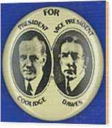 Presidential Campaign, 1924 Wood Print