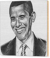 Presidential Smile Wood Print