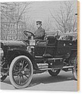 Presidents Tafts,white Touring Car That Wood Print
