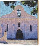 Presido Chapel San Elizario Texas Wood Print