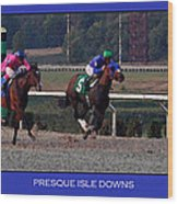 Presque Isle Downs Wood Print