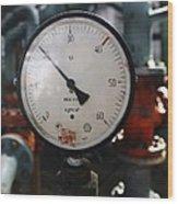 Pressure Dial, Natural Gas Industry Wood Print