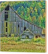 Prest Road Barn Hdr Wood Print