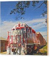 Prettiest Train Ever Wood Print
