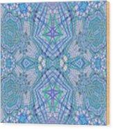 Pretty Blue Wood Print