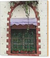 Pretty Decorated Window Wood Print