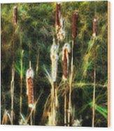 Pretty In A Ditch Wood Print