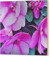 Pretty Pink Flowers Wood Print