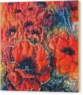Pretty Poppies Wood Print