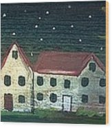 Prim Houses All In A Row Wood Print