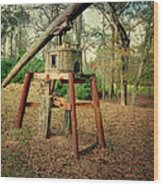 Primitive Sugar Cane Mill Wood Print by Tamyra Ayles