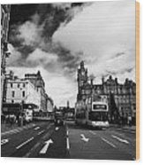 Princes Street Edinburgh Scotland Wood Print by Joe Fox