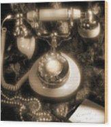 Princess Phone Wood Print