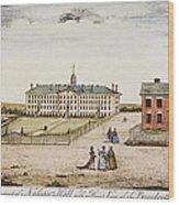 Princeton College, 1764 Wood Print