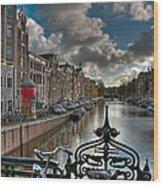 Prinsengracht And Leidsestraat. Amsterdam Wood Print