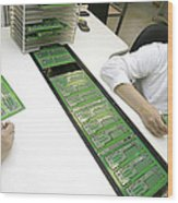 Printed Circuit Board Assembly Work Wood Print
