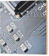 Printed Circuit Board Components Wood Print