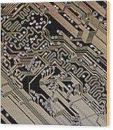 Printed Circuit Board, Computer Artwork Wood Print