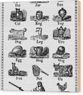 Printers Cuts, 1825 Wood Print