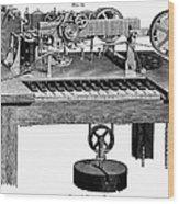 Printing Telegraph, 1873 Wood Print
