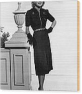 Priscilla Lane, 1938 Wood Print by Everett