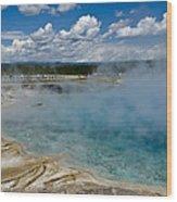 Prismatic Spring Yellowstone Wood Print
