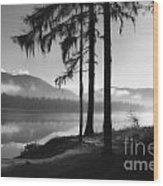 Pristine Serenity In Autumn Wood Print