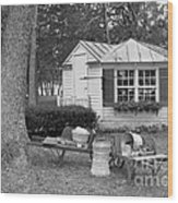 Produce Stand  Wood Print