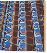 Programs On Rows Of Seating Wood Print by Marlene Ford