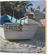 Progreso Mexico Fishing Boat Wood Print