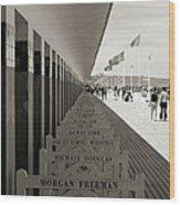 Promenade Des Planches Wood Print