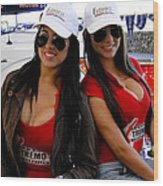 Promotional Assistants At Parque Xtremo Wood Print