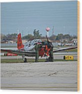 Propeller Plane Chicago Airplanes 09 Wood Print