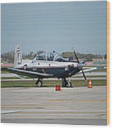 Propeller Plane Chicago Airplanes 10 Wood Print