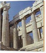 Propylaia Acropolis Wood Print