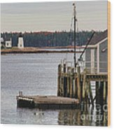 Prospect Harbor Lighthouse Wood Print by Jack Schultz
