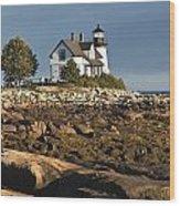 Prospect Harbor Lighthouse Wood Print