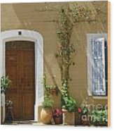 Provence Door 3 Wood Print by Lainie Wrightson