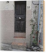 Provence Door Number 33 Wood Print